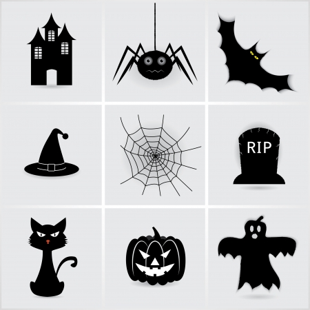 set icons for Halloween.
