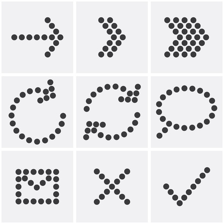 set of dots icons.