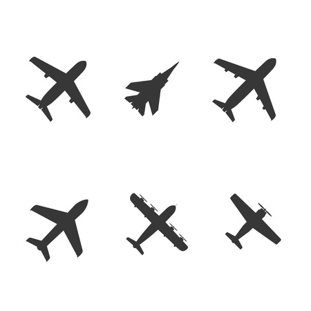 Illustration pour plane icons collection. vector. eps8 - image libre de droit