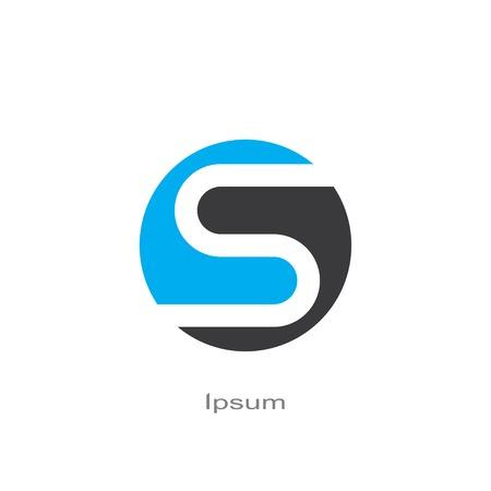 round symbol of letter s. template logo design. vector eps8