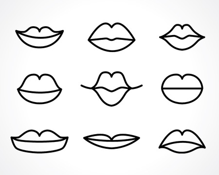 contours of the woman smiling lips