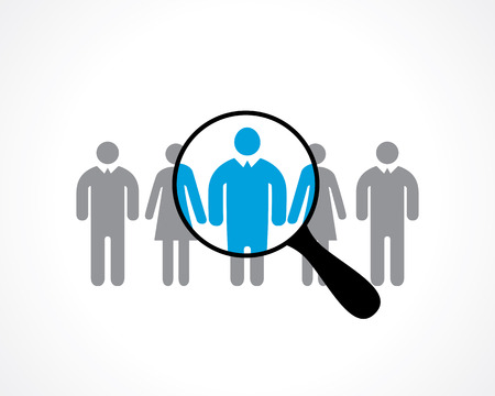 search for employees. recruitment. vector icon
