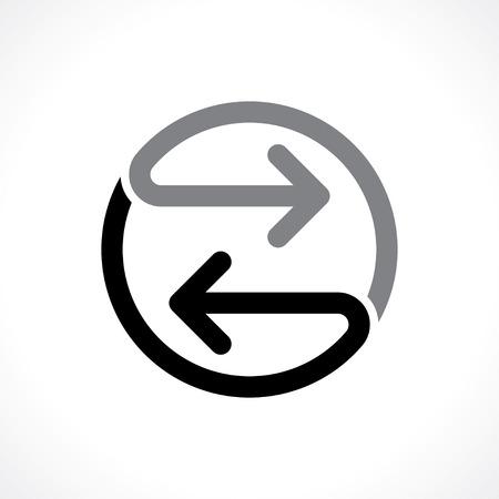 Illustration pour bidirectional arrows icon - image libre de droit