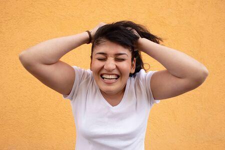 Photo pour the Happy girl close-up - image libre de droit