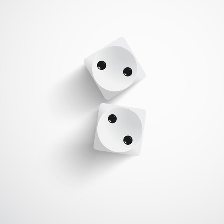 illustration of two white dices