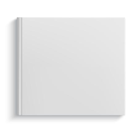 Illustration pour Blank square hardcover album template on white background - image libre de droit