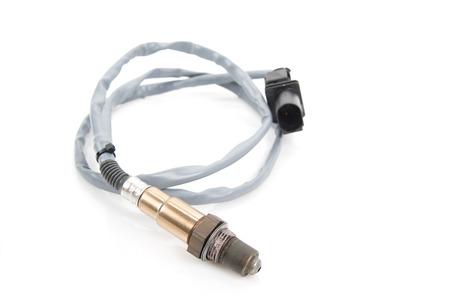 Photo pour Image of oxygen sensor (lambda sensor) close-up. Isolate on white. - image libre de droit