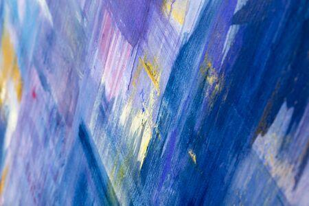 Foto de Painting Artistic bright color oil paints texture abstract artwork. Modern futuristic pattern for grunge wallpaper, interior, album, flyer cover, poster, booklet background. Creative graphic design - Imagen libre de derechos