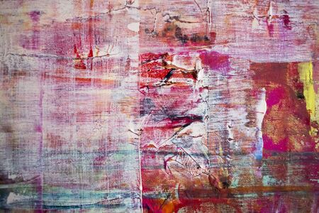 Photo pour Painting Artistic bright color oil paint texture abstract artwork. Modern futuristic pattern for grunge wallpaper, interior, album, flyer cover, poster, booklet background. Creative graphic design - image libre de droit