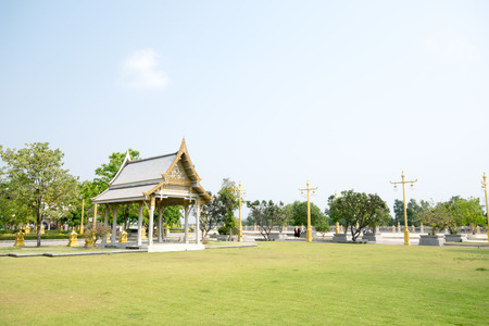 Thai pavilion in the grass