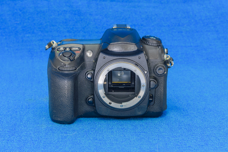 Old DSLR  black camera body without lens