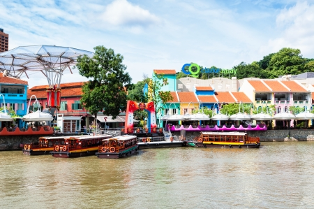Clarke Quay is a popular tourist attraction in Singapore