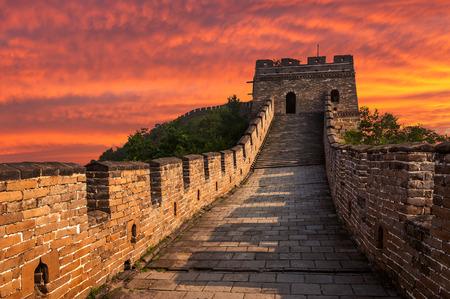 Foto de The Great Wall of China at Mutianyu. - Imagen libre de derechos