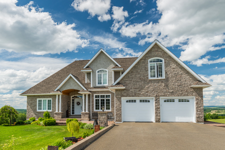 Photo for A beautiful new house on a hill in Canada. - Royalty Free Image