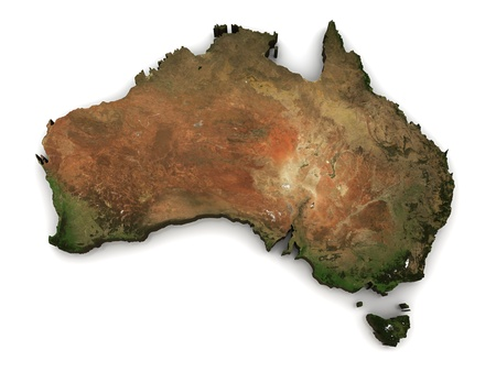 Australia 3D (Topography map comes from earthobervatory/nasa)