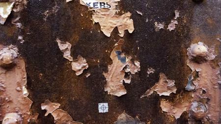 Peeling paint rusting metal rough texture