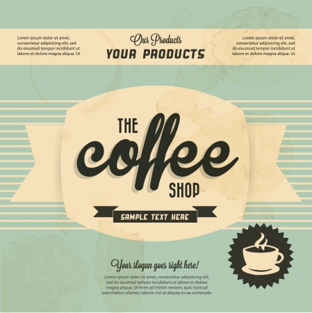 Photo for Retro Vintage Coffee Background with Typography  - Royalty Free Image