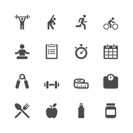 Foto de Fitness icons - Imagen libre de derechos
