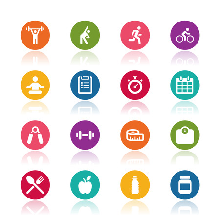 Photo for Fitness icons - Royalty Free Image