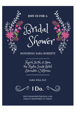 Illustration pour Bridal Shower Invitation card - image libre de droit