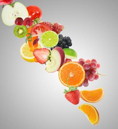 Mixed fruits juice vitamin