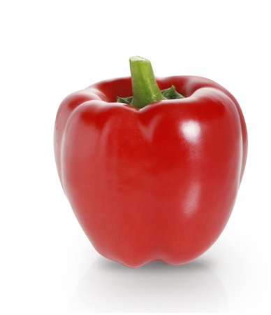 red pepper on a white background