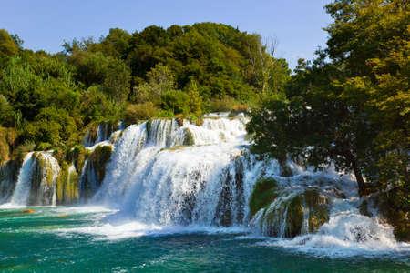 Waterfall in Croatia -  nature travel background