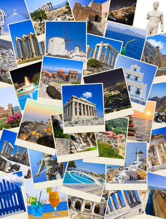 Photo for Stack of Greece shots  - nature and travel background  my photos  - Royalty Free Image