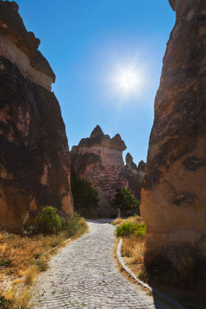 Rock formations in Cappadocia Turkey - nature background