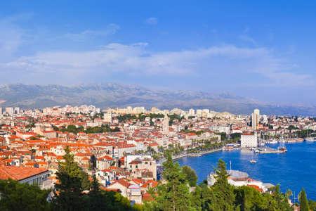 Panorama of Split, Croatia - architecture travel background