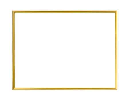 Foto de Metal frame isolated on white background - Imagen libre de derechos