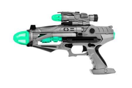 Photo pour Fantastic toy gun isolated on white background - image libre de droit