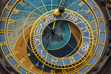 Photo for Old Astronomical clock in Prague - Czech Republic - travel and architecture background - Royalty Free Image