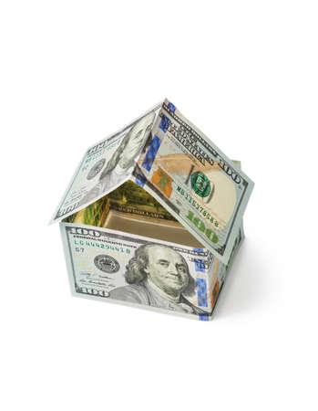 Photo pour Money house isolated on white background - image libre de droit