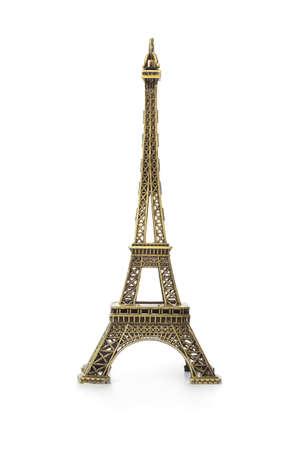Photo pour Paris Eiffel tower souvenir isolated on white background - image libre de droit