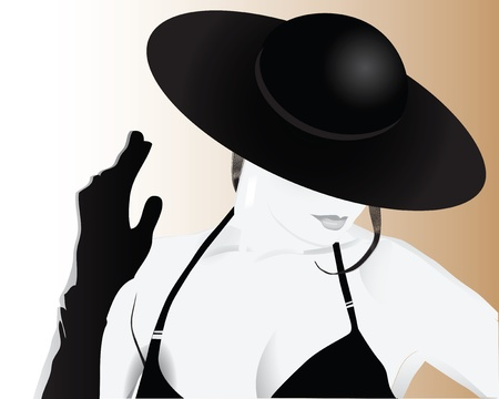 Stylish woman in a hat