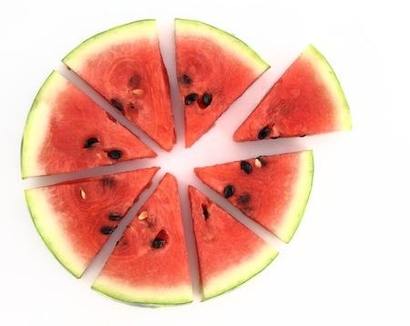 Photo pour Pie chart of watermelon slices - image libre de droit