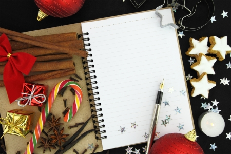 Christmas note book