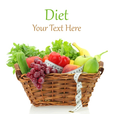 Diet products in the basket
