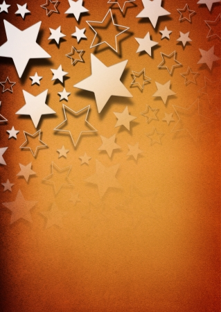 Stars on vintage grunge background