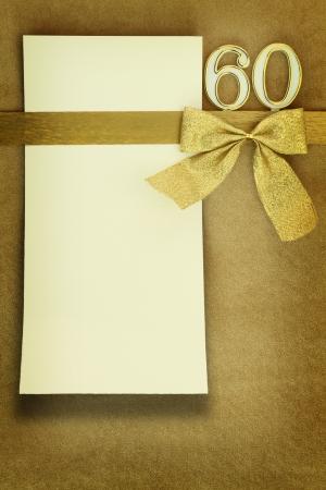 Photo pour Anniversary card on golden background - image libre de droit