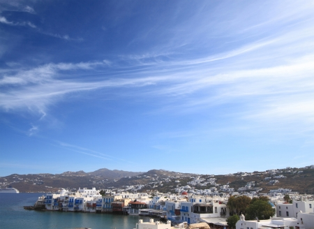 The town of Mykonos island i