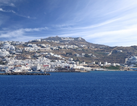 The town of M ykonos island