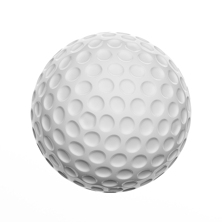 Golf ball, isolated on white background