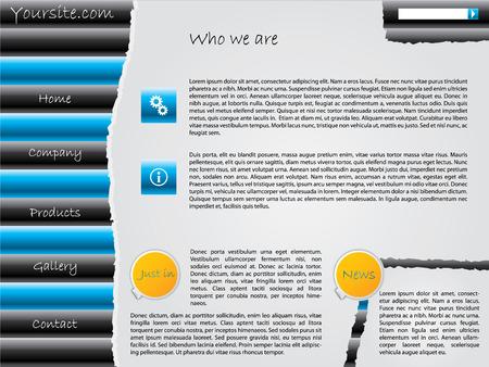 Ripped website design