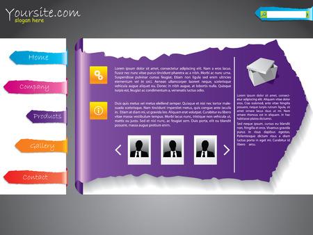 Ripped label web template design