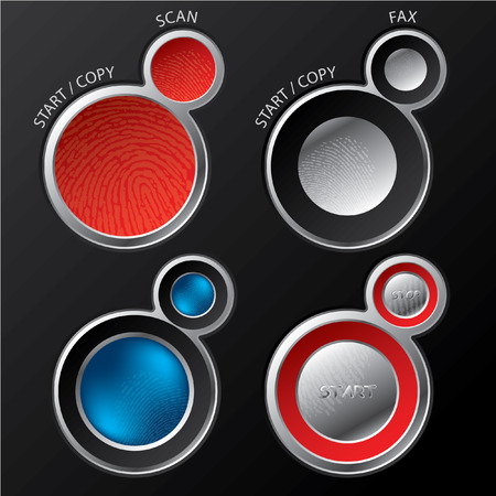 Button sets for scanners/copiers