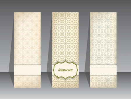 Cool retro label set with different textures