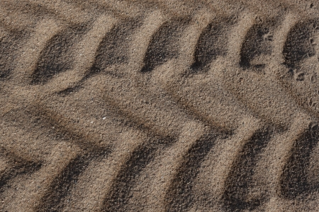 Tractor trail that passed through the sand