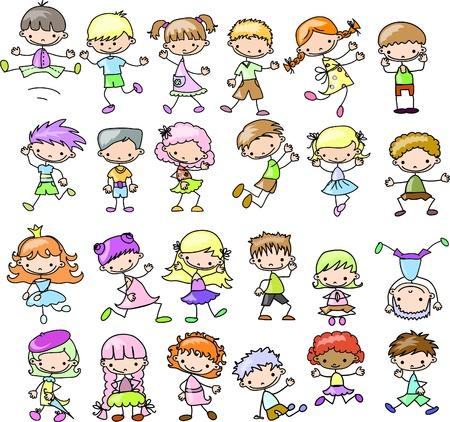Ilustración de Cute happy kids  - Imagen libre de derechos